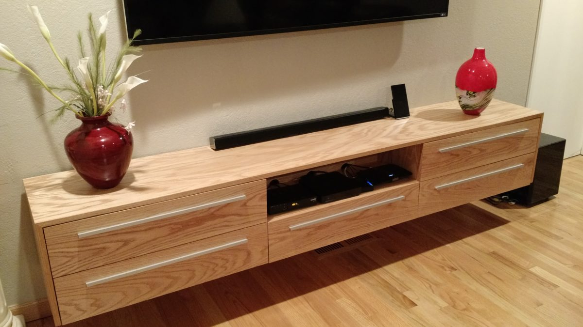 Floating TV Console Build and Installation
